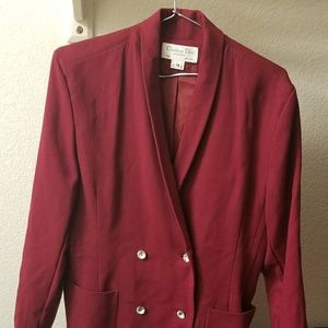 Red Dior Blazer